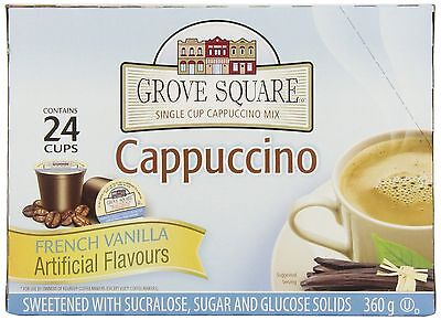 Grove Square French Vanilla Cappuccino 96-Count Brown