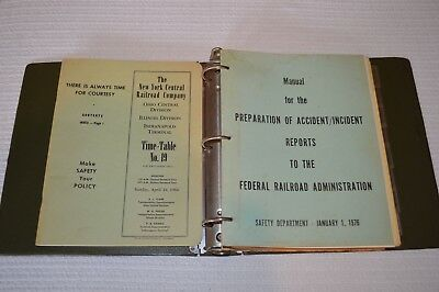 Railroad Memorabilia Lot Penn Central New York Central Time Table Safety Manual