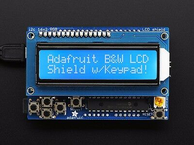 Adafruit LCD Shield Kit w/ 16x2 Character Display - BLUE AND WHITE for Arduino