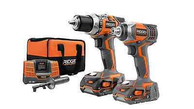 Rigid 9600, 18 Volt, Compact Drill And Impact Driver Kit Combo