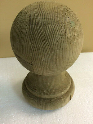 "PRESSURE TREATED JUMBO BALL TOP POST CAP screw-in 7"" tall, 5"" diameter bottom"
