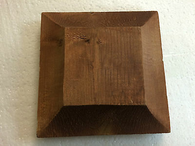 "PRESSURE TREATED BROWN FLAT TOP POST CAP 5.5"" SQUARE deck fencing landscaping"
