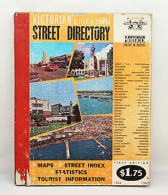 1966 1967 FIRST EDITION Victorian Cities & Towns Vintage Street Directory UBD