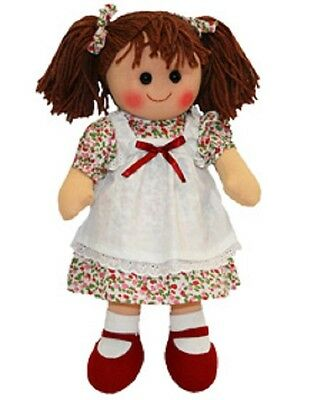 New Childs Toy Rag doll woollen hair soft body & outfit ragdoll dolly - Victoria