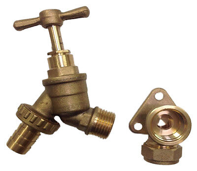 1/2 Garden Tap With Wall Plate Elbow