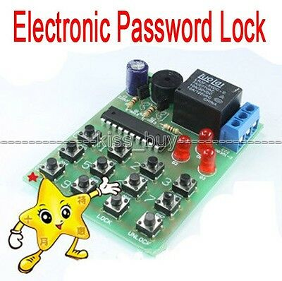 Simple Electronic Password Lock Circuit DIY Learning Kits dc4.5-5v