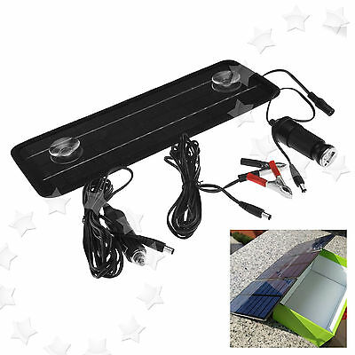 12V 4.5W Solar Trickle Panel Power Portable Battery Charger Car Van Truck Boat