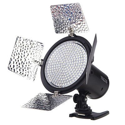 S3 YONGNUO YN216 3200K-5500K LED Video Light Camera Shoot with 4 Color Plates W1
