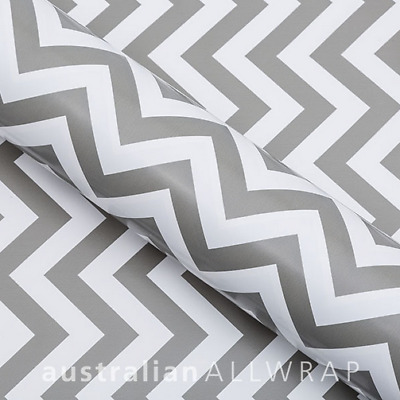 Grey Chevron Wrapping Paper, Counter roll, gift wrap,500mm x 50m
