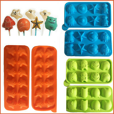 TALA Cake Pop Mould Lolly Choco Pops Silicone NonStick Monster Space Ghost Shape