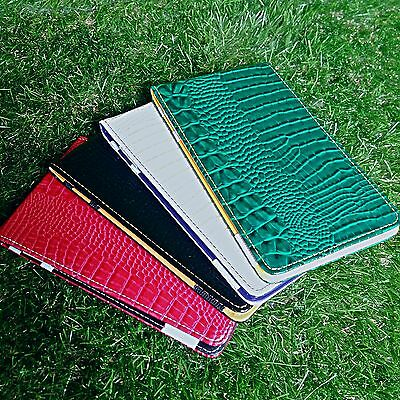 SS Tour | Lizard Leather Golf Scorecard & Yardage Book Holder New Handmade