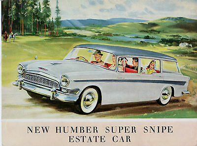 Humber Super Snipe Estate Series II 1959-60 UK Market Sales Brochure