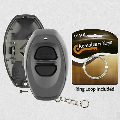 New Replacement Keyless Entry Remote Car Key Fob Case Shell Pad RS3000 Grey