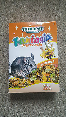 Food for Chinchilla 500g Supermix Fantasia Small Animal Pet Good for Hamster Rat