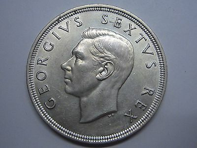 1951 George Vi 5 Shillings Sudafrika Silber South Africa British