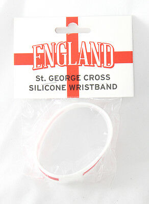 English England St. Georges Cross Silicone Wristband Football Euros