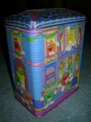 M & M 's Candy Tin Of The Bed And Breakfast Tin Series