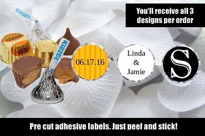 Wedding Hershey Kisses Nugget Labels Party Label Favors Gold and Black Favor