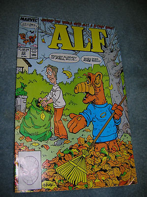 1989 Alf From Outer Space Comic # 23 Marvel Comics T.v.