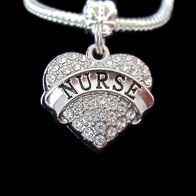 Nurse charm Necklace RN LPN best jewelry gift crystal heart style