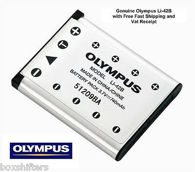 Genuine Original Olympus Li-42B Battery, Supplied by Approved Olympus Dealer