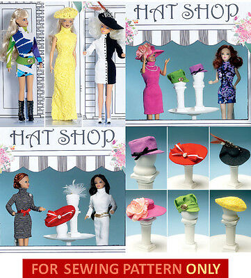 Sewing Pattern! Make 11.5 Inch Doll Clothes~Hats~Accessories! Fits Barbie!