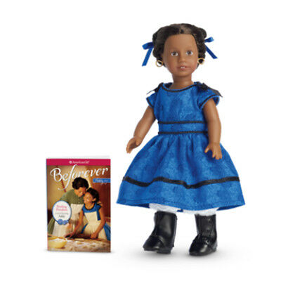 "American Girl ADDY MINI DOLL BF Book 6"" Meet Addy NIB Blue Dress Retired"