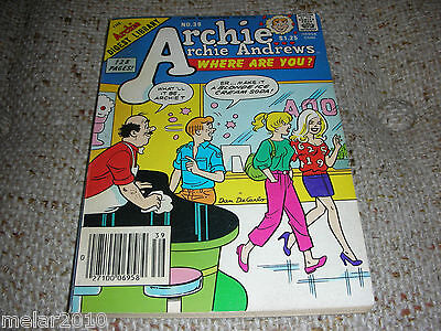 Archie Archie Andrews Where Are You Comic Digest  Magazine # 39 Aug 1985