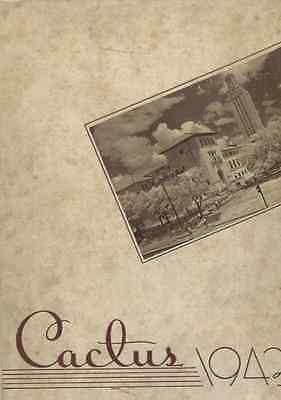 BL595 TX The Cactus Yearbook 1943 - University of Texas - Free Shipping!