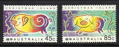 Stamps Australia  Christmas Island  1995 Year Of The Pig  (Mnh}