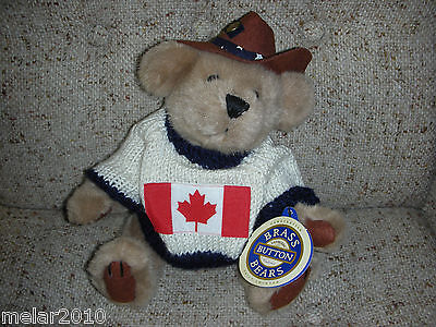 Brass Button Pickford Bears Cody Friendship Bear Canada- 1996