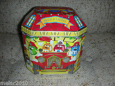 M&m's Christmas Limited Edition Canister Fire House # 06 - 1997