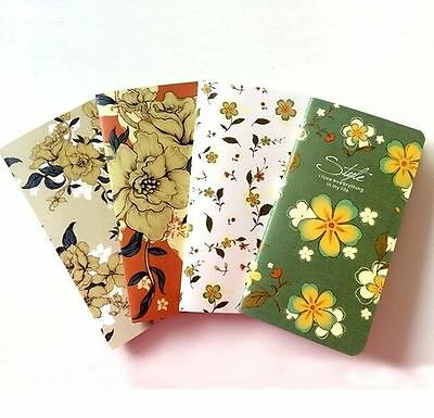 FD4441 Elegant Flora Note Journal Diary Sketch Kraftpaper Cover Notebook 1PC^