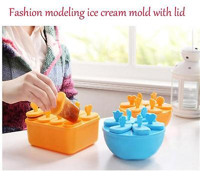 Frozen Ice Cream Mould Popsicle Maker Lolly Mould Tray Pan Kitchen DIY Pop Mold