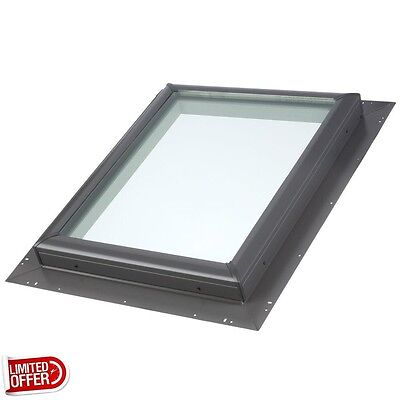 SALE VELUX 22-1/2 inch x 22-1/2 inch Fixed Pan-Flashed Skylight w/ Tempered