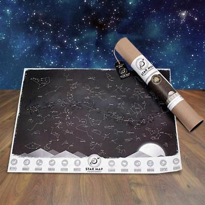 Glow In The Dark Star Map | constellation gravity space intergalactic stratosphe