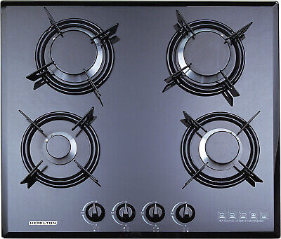 F4-B60 NEW 60cm Built-in Gas hob 4 burner FFD Cooktop black Tempered glass NGuse