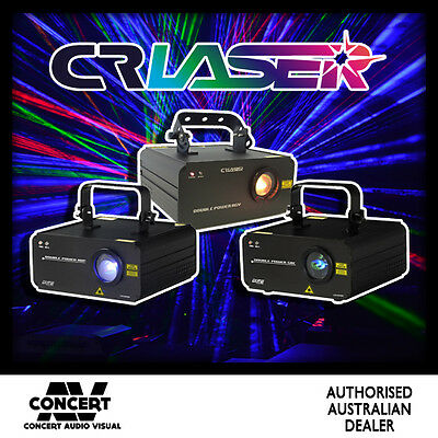 3X CR Double Power Lasers RGY, RBP, GBC Package BRAND NEW GENUINE