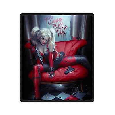 Home Decor New Arrival Harley Quinn Bed Or Sofa Soft Throw Cotton Blanket
