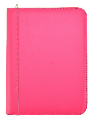 Pink Deluxe A4 Conference Folder Calculator & Pad Executive Portfolio  CL-715PK