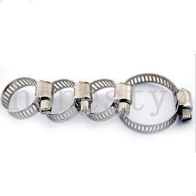 1/5/10Pcs  Stainless Steel Hose Clips Pipe Clamps - Multi Size - Jubilee Type