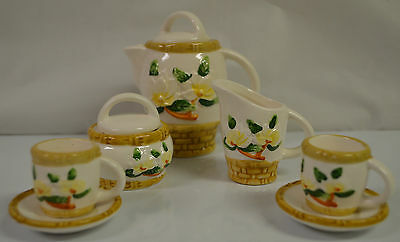 Floral Miniature China Tea Set Rare #M1