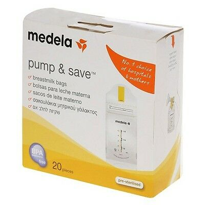 Breastmilk Save Bags Medela Pump Storage Pouches Baby Bottle Feeding Pack of 20