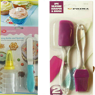 Kid's Baking Icing Bottle & Spatula Bakery Party Cake Bun Decor LIMITED OFFER!!!