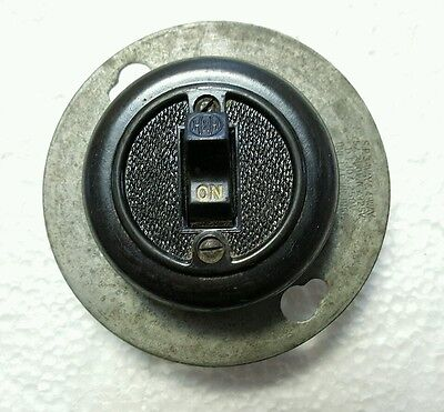 Vintage Arrow Hart Hegeman Bakelite Cover Surface Tumbler Light Switch H&H