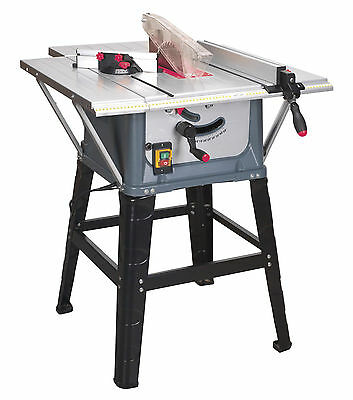 "Sealey 10"" Wood Working Table Saw Ø250mm 230V 13amp on Stand With Extension"