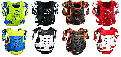 NEW 2017 Fox Racing Raptor CE Chest Protector Roost Guard Adult Dirtbike Offroad