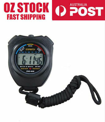 Waterproof Digital LCD Chronograph Stopwatch Timer counter sport coach referee
