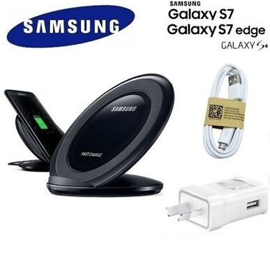 GENUINE Samsung Fast charge Wireless QI Charger Note 9 8 S9 S8 S7 S6 Edge Plus