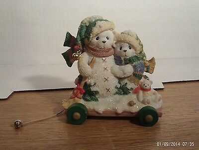 Cherished Teddies:  Ursula & Bernard: In The Winter, We Can Build... :2001